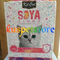 Pasir Kucing Gumpal/ Pasir Kucing Kit Cat Soya Clump Confetti 7L