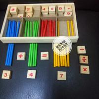 Mainan Edukasi Belajar Berhitung Stik Warna Warni