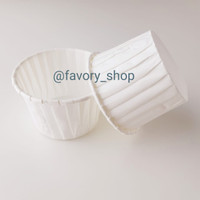 Paper Cake Cup / Kertas Cupcake / Rim Cup 40mm Putih (Grease proof)