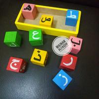 Mainan Edukasi Anak Susun Balok Huruf Hijayyah Datar