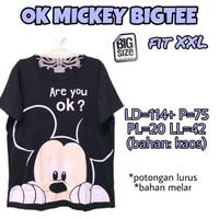 OK Mickey Bigtee XXL Kaos Wanita Lucu Bigsize