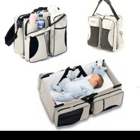 Tas Kasur Bayi Travel Bed Multifungsi Diaper Bag 2in1