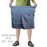 Celana Pendek Pria Big Size Polos Santai Kaos 7/8 Jumbo