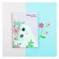 Buku tulis kucing lucu - pink v2