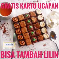 BROWNIES MIX TOPPING / BROWNIES PANGGANG / BROWNIES COKLAT / Brownies - TANPA LILIN, STANDART