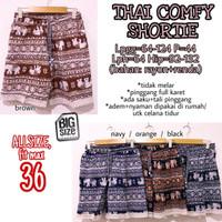 Thai Comfy Shortie size 36 Celana Pendek Rumah Wanita Jumbo