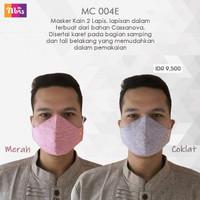 Masker kain 2 lapis isi tisu hijab tali untuk cewek cowok - isi 10pc