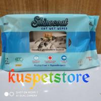 Tisue Basah Kucing/ Shine Coat Cat Wet Wipes isi 50pcs