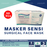 MASKER SENSI SURGICAL FACE MASK 3 PLY EARLOOP