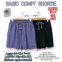 Basic Comfy Shortie size 36 Celana Pendek Wanita Rumahan Jumbo