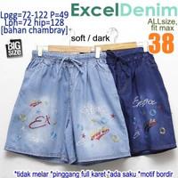 Excel Denim size 38 Celana Pendek Jumbo Wanita