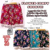 Flower Comfy Shortie size 36 Celana Pendek Rumah Wanita Ukuran Besar