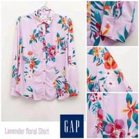 kemeja wanita - GAP floral shirt