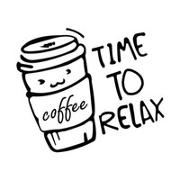 Time to Relax Coffee Soap Stamp Stempel Sabun Maga
