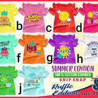 Baju Kaos Anak Perempuan, Premium Quality, Snip Snap Summer,Full Katun