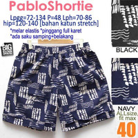Pablo Shortie size 40 Celana Pendek Wanita Rumahan Santai Jumbo