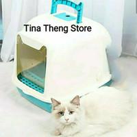 "Toilet Kucing "" CAT LITTER BOX OTOMATIS DOOR "" Tempat Pasir Kucing"