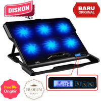 Cooling Pad Laptop 6 Fan ICE COOREL Stand Macbook