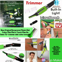 Original Alat Cukur Trimmer Micro Touch Max As Seen on TV Free Battery