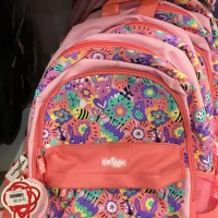 Smiggle Backpack Junior Flower Pink Peach Tas Ransel Anak Original