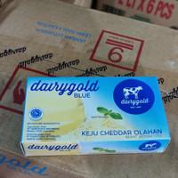 Keju Cheddar Dairygold Blue 170gr Cheese Parut Olahan