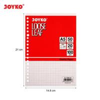 Loose Leaf Isi Kertas File Binder Joyko A5-100GR 50 Lembar GRID