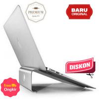 Aluminium Stand Holder Laptop Alas Meja Tablet Ipad Macbook - Silver