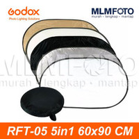 GODOX 5 IN 1 60x90CM COLLAPSIBLE REFLECTOR RFT-05 5IN1 OVAL 60x90