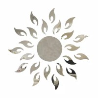 Stiker dinding cermin kaca bunga matahari / wallsticker 60cm