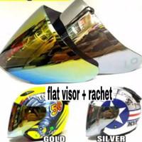 Kaca helm Flat visor KYT venom open PNP KYT DJ Maru - Glaxy ink Centro