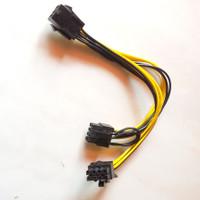 splitter 6 pin ke to 2x 8 pin 6 pin converter vga gpu power supply psu