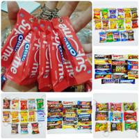 Gantungan Kunci Miniatur Snack Nusantara Souvenir Keychain Unik Murah