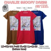 Charlie Snoopy Dress XXL Terusan Wanita Ukuran Jumbo