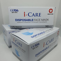 Masker 3Ply isi 50Pcs, Masker BFE 95%, Masker Anti Bakteri dan Debu