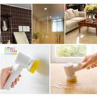 sikat elektrik magic brush pembersih perabotan rumah tangga dll 5 in 1