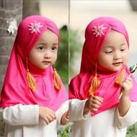 Hijab Jilbab Bayi Ratel 0-3th - Kerudung Anak Bayi - Hijab Bayi