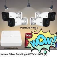 Uniview paket 4 CCTV Outdoor + 1 NVR (A)