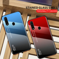Gradient Glass Case OPPO A31 OPPOA31 2020 Back Cover Casing HP