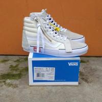 Sepatu Vans Sk8 HI Cut And Paste White Original Premium Quality ICC