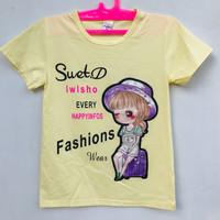 Baju Atasan Kaos Anak Perempuan Lengan Pendek Murah 6-7 Tahun