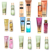 victoria secret body mist + body lotion in set