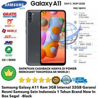 Samsung Galaxy A11 3GB/32GB 3/32gb A 11 3/32 Garansi-Resmi-Black-Hitam