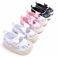 sepatu prewalker bayi anak perempuan bunga pita