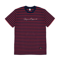 SKYMO APPAREL TSHIRT RED LINE BLACK