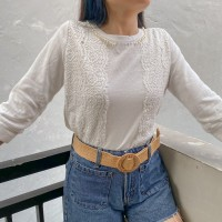 BLOUSE SLEEVE PEARL WHITE