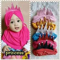 Jilbab Hijab Bayi Princes 0-3th - Kerudung Bayi - Jilbab Instan Bayi