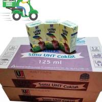 Susu UHT Ultra Milk Coklat 125 ml isi 40 Pcs