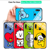 PREMIUM CASE CASING GLASS MOTIF 2 BTS BT21 FOR ASUS ZENFONE MAX PRO M2