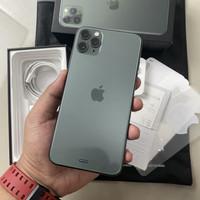iPhone 11 Pro Max 256GB Midnight Green Super Mulus Garansi resmi iBox