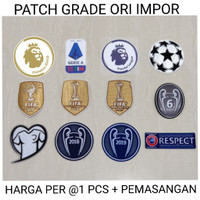 PASANG PATCH DI JERSEY UCL STARBALL RESPECT DLL GRADE ORI